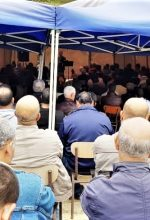 Tent set up after authorities closed church building in Azaghar, near Akbou in Algeria. (Morning Star News)