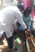 """Village leader forces a Christian woman to undergo """"reconversion"""" rite to tribal religion in Mahuatoli village, Jharkhand state, India on June 14, 2019. (Morning Star News)"""