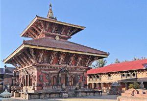 Hindu temple Changu Narayan, Bhaktapur, Nepal. (Wikipedia, Jean-Pierre Dalbera)