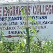 Engravers' College sign in Kakau Daji village, Chikun County, Kaduna state, Nigeria. (Morning Star News)