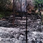 Remains of church building set ablaze in Radhapuram village, Tamil Nadu state, India. (Morning Star News)