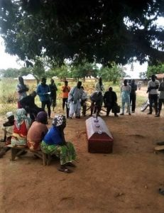 Funeral of two Christians slain in Agom village, southern Kaduna state, on Nov. 14, 2019. (Morning Star News)
