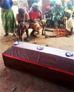 Mourners at funeral of two Christians slain in Agom village, southern Kaduna state, on Nov. 14, 2019. (Morning Star News)