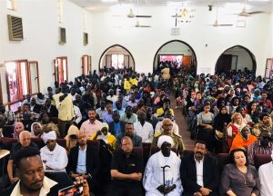 Muslim government officials attend Christmas service at Khartoum Bahri Evangelical Church on Dec. 25, 2019. (Facebook)