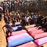 Burial for victims of Muslim Fulani herdsmen attacks near Bokkos, Nigeria. (Facebook)
