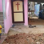 Village Hindus dug trench for wall to keep Christians from entering house church in L.B. Patnam village, Andhra Pradesh, India. (Morning Star News)