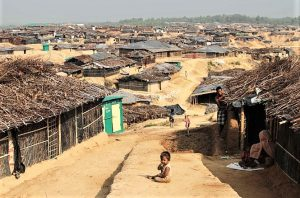 Kutupalong refugee camp in Cox's Bazaar District, Bangladesh. (John Owens, VOA)