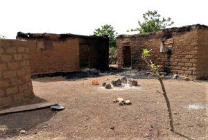 Charred homes from Muslim Fulani herdsmen attack on Angwan Magaji Kamaru village, Kaduna state, Nigeria. (Morning Star News)