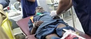 Ashiq Masih in hospital after police vehicle struck him in Gujranwala, Pakistan. (Morning Star News)