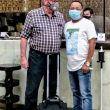 astor Bryan Nerren (L) with pastor David Rock before departure from India. (Morning Star News)