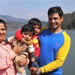 Pastor Keshab Raj Acharya and his family. (Morning Star News)