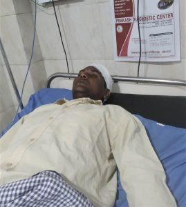 Pastor Dinesh Kumar in private hospital in Mau, Uttar Pradesh, India. (Morning Star News)
