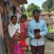 Pastor Munshi Devu Tado with wife and child in Gadchiroli District, Maharashtra, India. (Morning Star News)