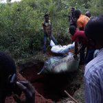 Baptist Church members buy one of 14 Christians killed in Agbadu-Daruwana, Kogi state, Nigeria on July 29. (All Africa Baptist Fellowship Facebook)