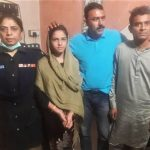 Arzoo Raja, 13-year-old Christian girl in Karachi, and Ali Azhar on far right. (Photo released by Sindh government)