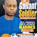 Funeral announcement of the Rev. Johnson Oladimeji, killed in Ekiti state, Nigeria. (Morning Star News)