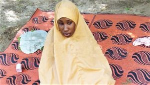 Leah Sharibu in captivity in photo released by captors in August 2019
