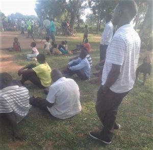 Mourners at burial of slain pastor David Omara in Aduka, Uganda on Wednesday (Nov. 4). (Morning Star News)