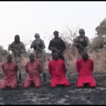 Screenshot of video released by Islamic State showing execution of Christians in northeast Nigeria. (Morning Star News)