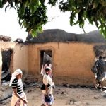 Homes burned by Fulani assailants in Bassa County, Plateau state, Nigeria in February 2021. (David Mali photo)