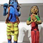 Adivasi decorative figures from Chhattisgarh, India at Museum of Quai Branly in Paris, France. (Dalbera, Creative Commons)