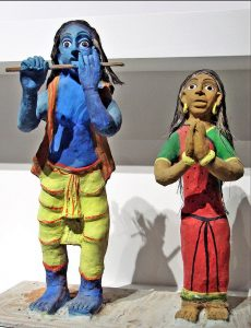 Adivasi decorative figures from Chhattisgarh, India at Museum of Quai Branly in Paris, France. (Dalbera, Creative Commons)
