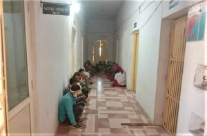 Detained Christians await interrogation at Udaigarh police station in Madhya Pradesh, India on Feb. 7, 2021. (Morning Star News)