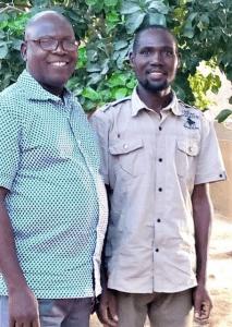 Pastor Bulus Yakura with EYN member Kwajaffa Balamusa (left) after the pastor's release from Islamic extremist militants last week. (Morning Star News courtesy of Kwajaffa Balamusa)