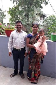 Pastor Manu Damor, wife and youngest child in Madhya Pradesh, India. (Morning Star News)