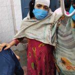 Pinky Kumari with husband after assault in Bihar state, India on April 22, 2021. (Morning Star News)