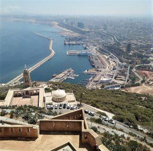 City of Oran, including Santa Cruz citadel and church. (Lilata, Creative Commons)