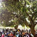 Community members gather on May 23, 201 after the killing of Fred Isiko in eastern Uganda the previous evening. (Morning Star News)