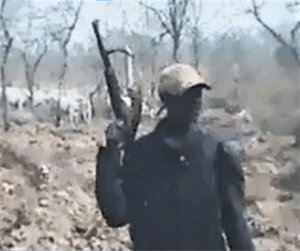 Fulani herdsmen in north-central Nigeria in screenshot from video obtained by Morning Star News. (Morning Star News)