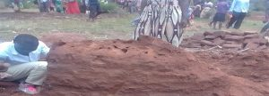 Ant mound where body of Saban Sajabi was found in Kabula, Uganda. (Morning Star News)