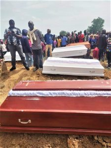 Aug. 28 funeral by Anglican Diocese of Jos for 17 of 33 Christians killed on Aug. 25 in Yelwa Zangam, Plateau state, Nigeria. (Facebook Anglican Diocese of Jos)