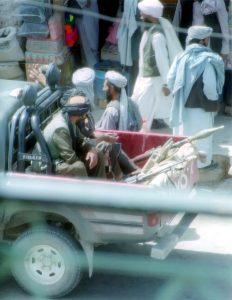Taliban in Herat, Afghanistan in 2001. (Bluuurgh, Creative Commons)